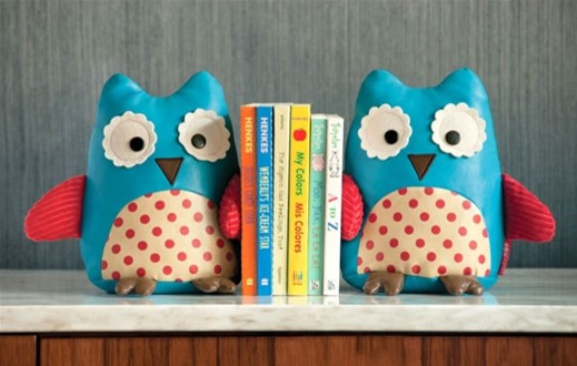 Skip Hop Zoo Bookends, Owl contemporary kids decor