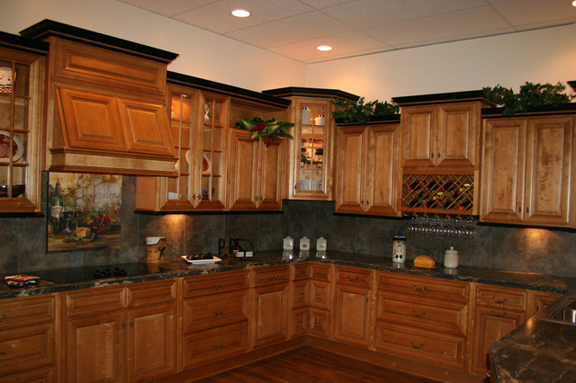 Mocha Kitchen Cabinets Home design traditional-kitchen-cabinets