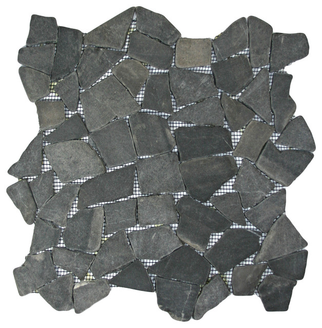 Grey Marble Stone Mosaic Tile contemporary-mosaic-tile