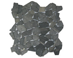Grey Marble Stone Mosaic Tile contemporary-tile
