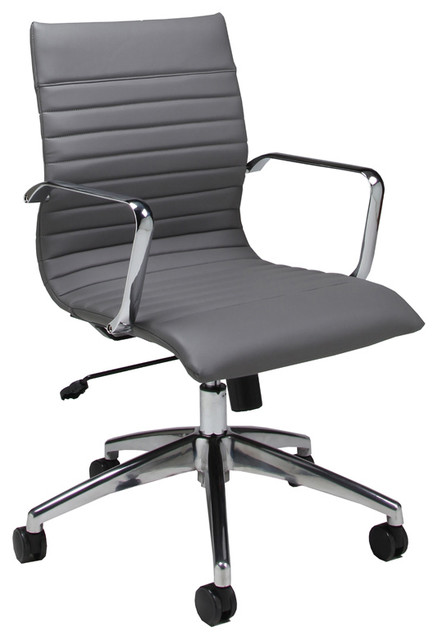 Comfortable furniture: Grey office chair