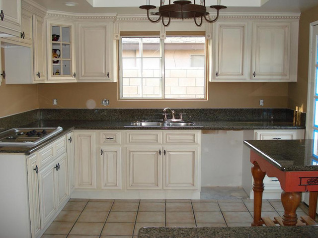 Antique White Kitchen Cabinets Home Design - Modern - Kitchen Cabinetry - columbus - by Lily Ann ...
