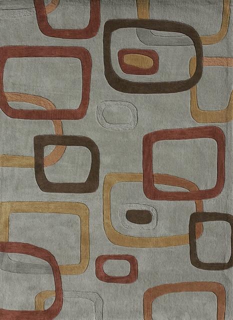 "Loloi Grant GR-13 7'9"" x 9'9"" Aqua, Multi Rug contemporary-rugs"