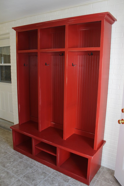 Barn Red Mudroom Cubby Contemporary Furniture Dallas