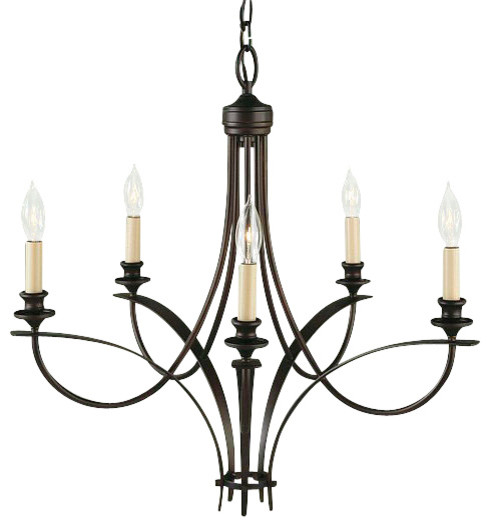 5 Bulb Oil Rubbed Bronze Chandelier transitional-chandeliers