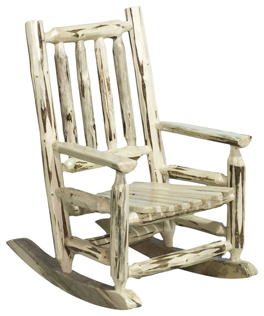 ... Rocking Chair in Clear Lacquer - Rustic - Rocking Chairs - by Beyond
