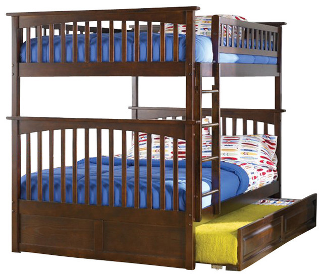 Atlantic Furniture Columbia Full over Full Bunk Bed transitional-beds
