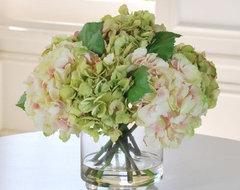 Jane Seymour Lavender Hydrangeas 15H in. Silk Flower Arrangement modern-plants