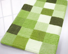 Caro Checkered Bath Rugs from Vita Futura contemporary-bath-mats