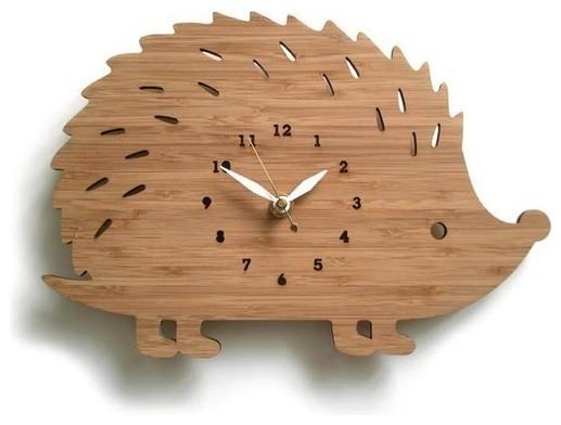 Modern Animal Hedgehog by decoylab on Etsy contemporary-clocks
