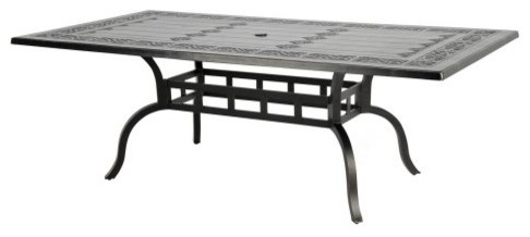 Caluco Novara 86 in. Rectangular Dining Table traditional-outdoor-dining-tables
