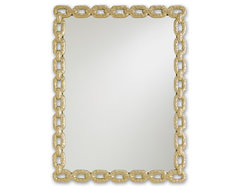 Currey & Co 1082 Betty June Dusky Brass Mirror transitional-mirrors