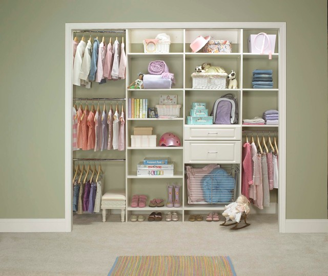 Reach-In Closet Organizers: White traditional