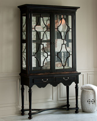 """""""Lawrence"""" Curio Cabinet traditional-storage-units-and-cabinets"""