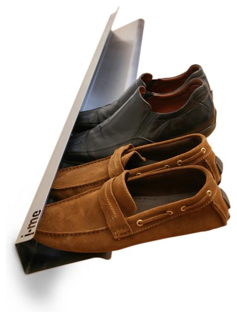 j-me Stainless Steel Metal Shoe Rack - Modern - Shoe Storage - london - by Tszuji - Storage for Life