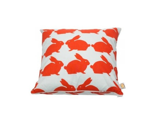 Kissing Rabbits Cotton Cushion | Anorak -