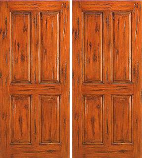 Exterior Double Door, Knotty Alder 4-Panel, Southwest Home ...