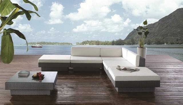 Ezra Patio Sectional Set Contemporary Outdoor Lounge