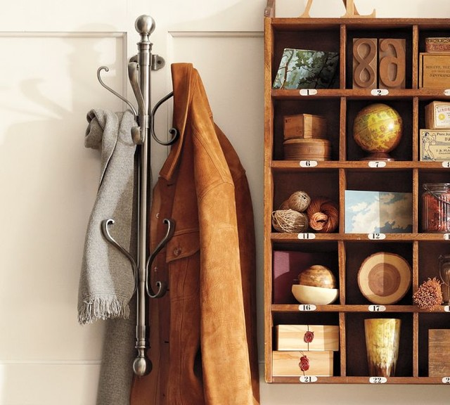 Wall-Mount Coat Rack - Traditional - Coatracks And Umbrella Stands - by Pottery Barn