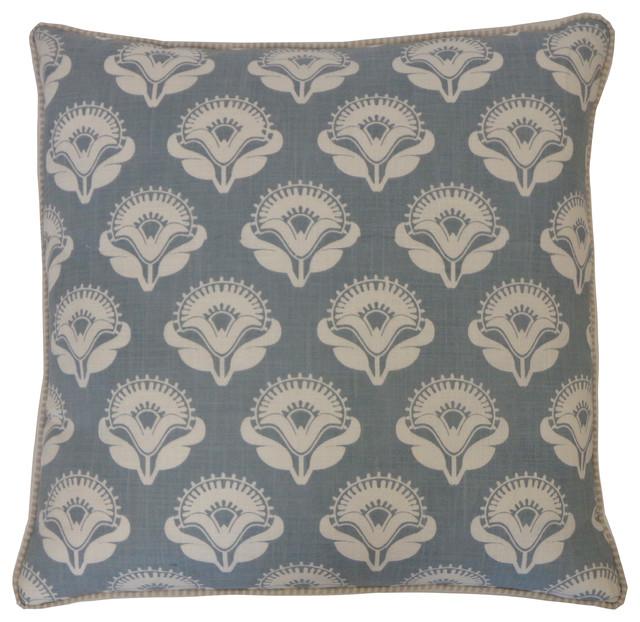 Poppy Blue Pillow contemporary-decorative-pillows
