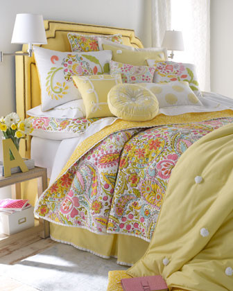 Dena Home Sunbeam Bed Linens Two Standard Floral Shams traditional shams