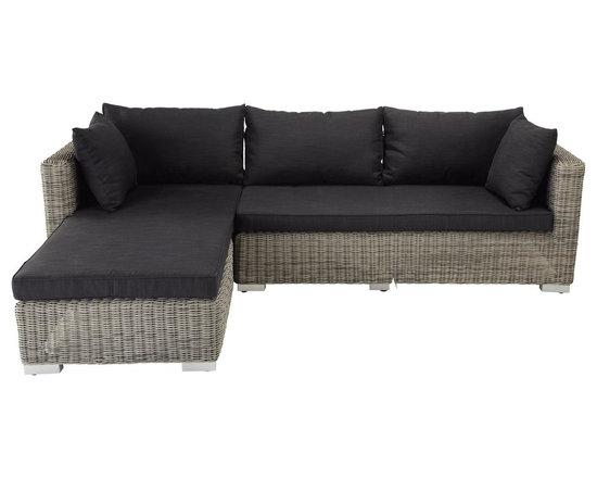 Charcoal grey outdoor corner sofa Cape Town -
