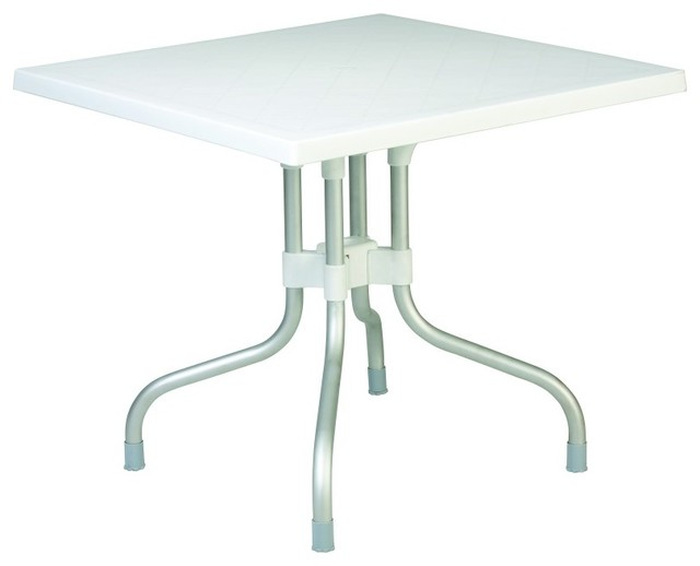 Forza Square Folding Table 31 Inch White contemporary-dining-tables