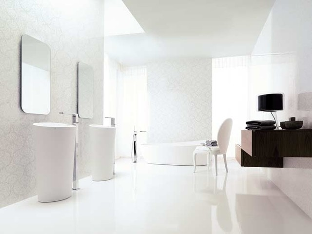 Ultra Modern Glamourized Bathroom Modern Bathroom