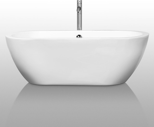 freestanding soaking bathtub contemporary bathtubs by overstock