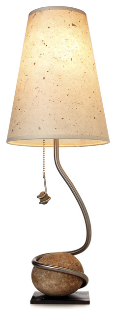 HANDMADE ROCK AND VINE LAMP contemporary table lamps