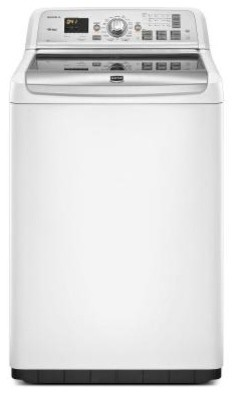 Maytag Bravos XL 4.6 cu. ft. High-Efficiency Top Load Washer in White, ENERGY ST contemporary-household-cleaning-supplies