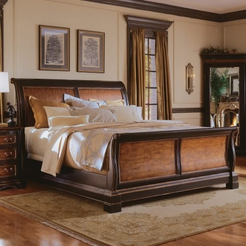 Preston Ridge Sleigh Bed Queen Traditional Beds By Hayneedle