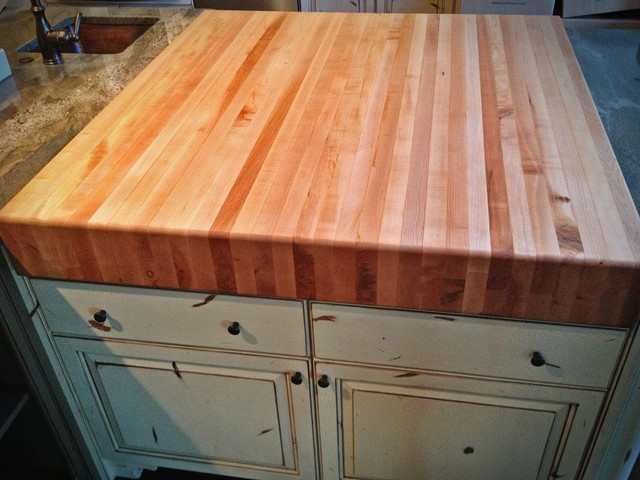 Butcher block countertops - asian - kitchen countertops - denver ...