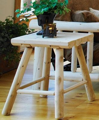 Cody Log Top End Table traditional-side-tables-and-end-tables