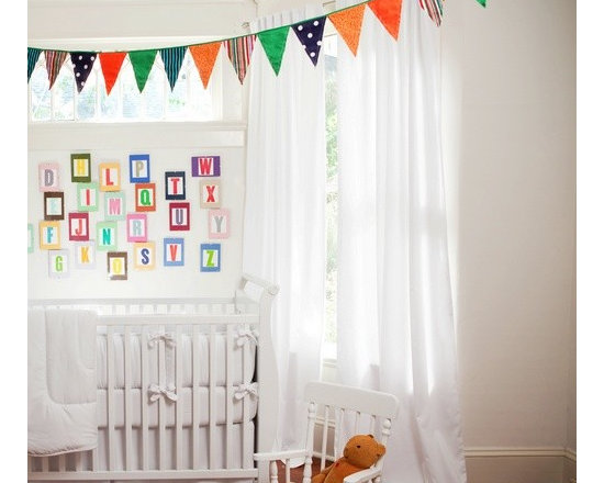 Solid White Hidden Tab Drapes -