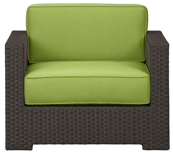 Ventura Lounge Chair with Sunbrella Kiwi Cushions - modern