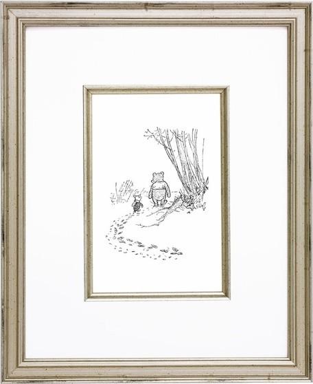 Classic Pooh VIII Vintage English Framed Print traditional-artwork