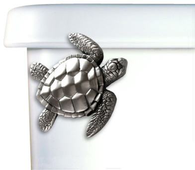 Sea Turtle Toilet Handle - beach style - toilet accessories - by