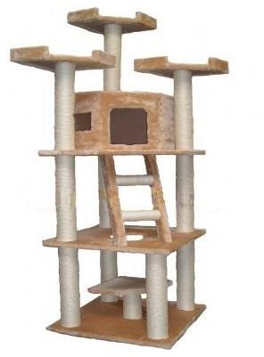 "78"" Cat Tree in Beige modern-pet-supplies"