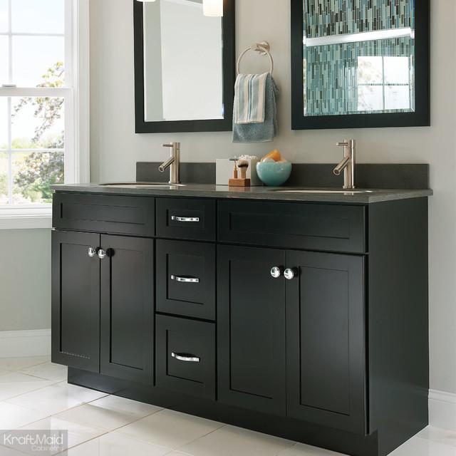 Kraftmaid bathroom sink base in onyx contemporary bathroom vanities and sink consoles - Kraftmaid bathroom cabinets and vanity ...