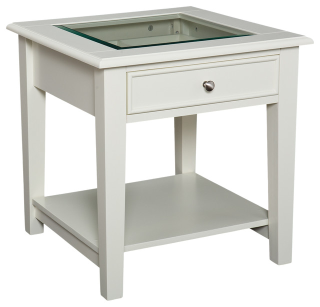 Somerset end table white contemporary side tables and for White end table