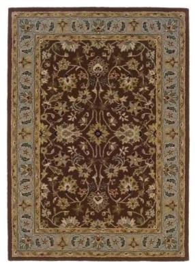 """Area Rug: Trio Traditional Brown and Light Blue 1' 10"""" x 2' 10"""" contemporary-rugs"""