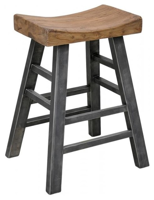 Classic Home Furniture Morella Square Bar Stool