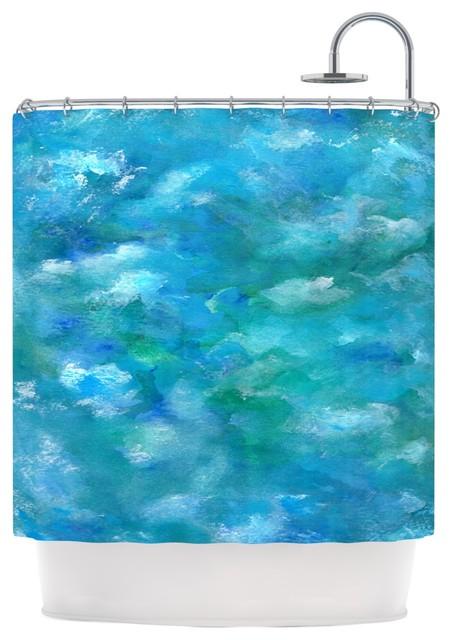 Rosie Brown Ocean Waters Blue Aqua Shower Curtain