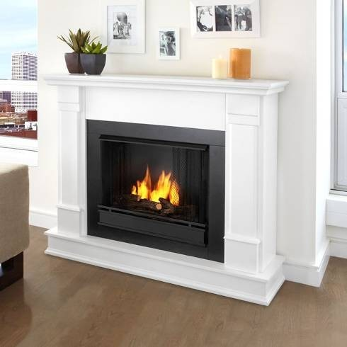 Real Flame G8600 W Silverton White Ventless Gel Fireplace Indoor Fireplaces Other Metro By