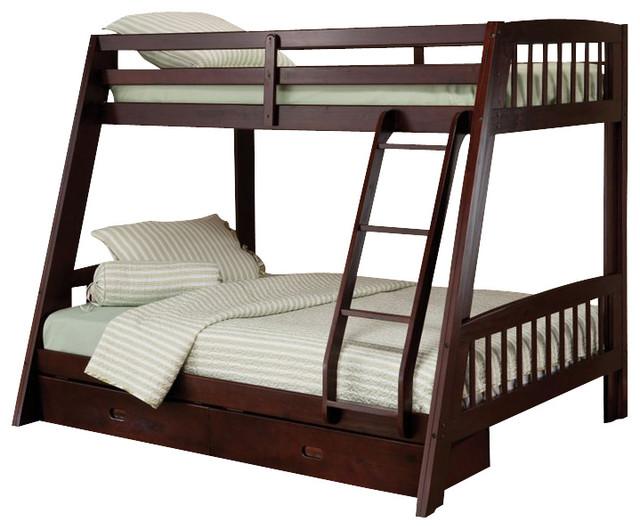 Hillsdale Rockdale Twin Over Full Bunk Bed Set In Espresso