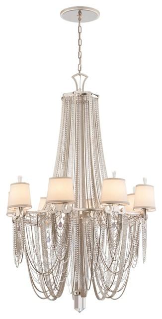 Flirt 8 Light Amethyst Rock Crystal Chandelier transitional-chandeliers