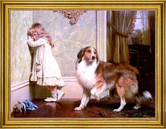 Charles Burton Barber 18 Quot X24 Quot Framed Canvas Traditional