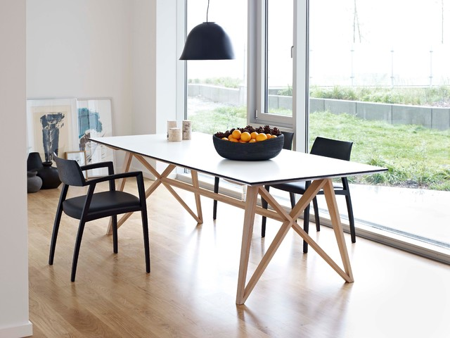butterfly ash modern dining table modern dining tables london by wharfside. Black Bedroom Furniture Sets. Home Design Ideas