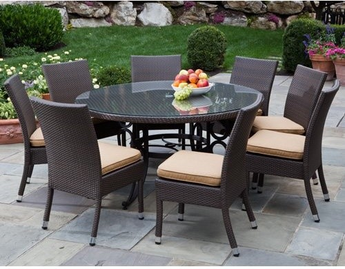 Alfresco Home Vento 60 in Round All Weather Wicker Patio